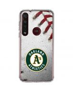 Oakland Athletics Game Ball Moto G8 Plus Clear Case