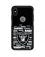 Las Vegas Raiders Black Blast Otterbox Commuter iPhone Skin