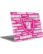 Las Vegas Raiders Pink Blast Apple MacBook Air Skin