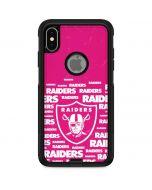 Las Vegas Raiders Pink Blast Otterbox Commuter iPhone Skin