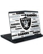 Las Vegas Raiders Silver Blast Dell Alienware Skin