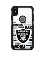 Las Vegas Raiders Silver Blast Otterbox Commuter iPhone Skin