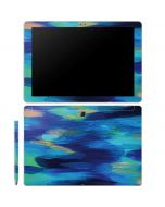 Ocean Blue Brush Stroke Galaxy Book 10.6in Skin