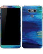 Ocean Blue Brush Stroke LG G6 Skin
