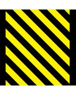 Black and Yellow Stripes LifeProof Nuud iPhone Skin