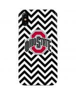 Ohio State Chevron Print iPhone XS Max Lite Case