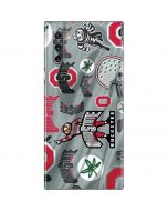 Ohio State Pattern Galaxy Note 10 Skin