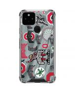 Ohio State Pattern Google Pixel 5 Clear Case