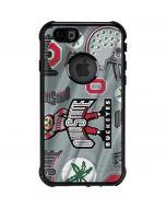 Ohio State Pattern iPhone 6/6s Waterproof Case