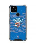 Oklahoma City Thunder Blast Google Pixel 5 Clear Case