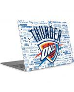 Oklahoma City Thunder Historic Blast Apple MacBook Air Skin