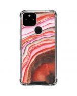Orange Watercolor Geode Google Pixel 5 Clear Case