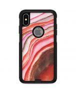 Orange Watercolor Geode Otterbox Commuter iPhone Skin