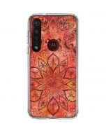 Orange Zen Moto G8 Plus Clear Case