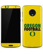 Oregon Ducks Football Moto G6 Skin