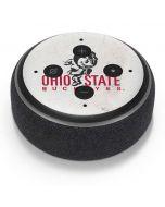 OSU Ohio State Buckeyes Light Grey Amazon Echo Dot Skin