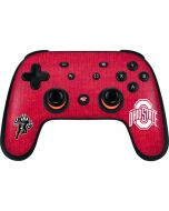 OSU Ohio State Buckeyes Red Logo Google Stadia Controller Skin