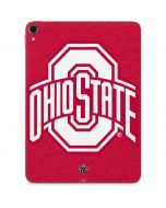 OSU  Ohio State Buckeyes Red Logo Apple iPad Pro Skin