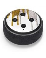 Paint Splatter Gold Amazon Echo Dot Skin