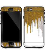 Paint Splatter Gold LifeProof Nuud iPhone Skin