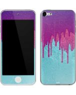 Paint Splatter Purple Apple iPod Skin
