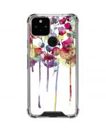 Painted Flowers Google Pixel 5 Clear Case