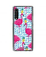 Party Flamingos LG Velvet Clear Case