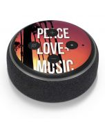 Peace Love And Music Amazon Echo Dot Skin