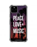 Peace Love And Music Google Pixel 5 Clear Case
