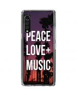 Peace Love And Music LG Velvet Clear Case