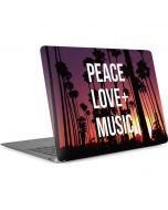 Peace Love And Music Apple MacBook Air Skin