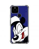 Pepe Le Pew Zoomed In Google Pixel 5 Clear Case