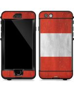 Peru Flag Distressed LifeProof Nuud iPhone Skin