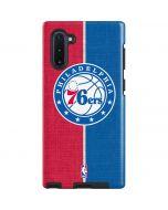 Philadelphia 76ers Canvas Split Galaxy Note 10 Pro Case