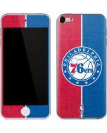 Philadelphia 76ers Canvas Split Apple iPod Skin