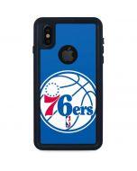 Philadelphia 76ers Large Logo iPhone XS Waterproof Case