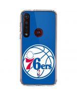 Philadelphia 76ers Large Logo Moto G8 Plus Clear Case