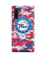 Philadelphia 76ers Red Digi Camo Galaxy Note 10 Pro Case