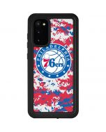 Philadelphia 76ers Red Digi Camo Galaxy S20 Waterproof Case