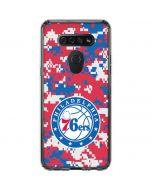 Philadelphia 76ers Red Digi Camo LG K51/Q51 Clear Case