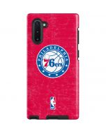 Philadelphia 76ers Red Distressed Galaxy Note 10 Pro Case