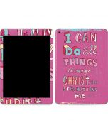 Philippians 4:13 Pink Apple iPad Skin