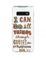 Philippians 4:13 White Galaxy S10 Plus Lite Case