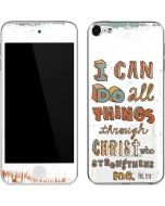 Philippians 4:13 White Apple iPod Skin