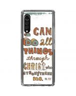 Philippians 4:13 White LG Velvet Clear Case