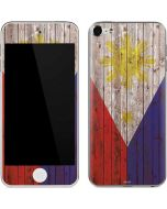 Philippines Flag Dark Wood Apple iPod Skin