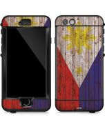 Philippines Flag Dark Wood LifeProof Nuud iPhone Skin