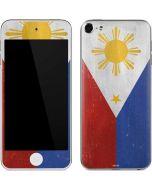 Philippines Flag Distressed Apple iPod Skin