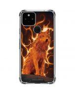 Phoenix Wolf Google Pixel 5 Clear Case