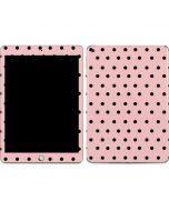 Pink and Black Polka Dots Apple iPad Skin